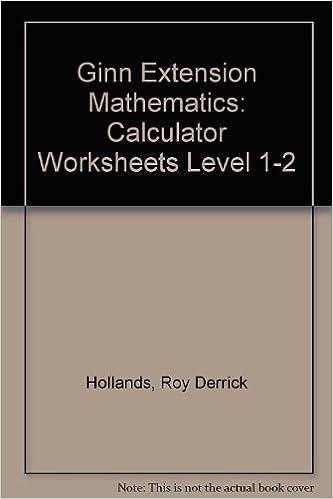 Ginn Extension Mathematics: Calculator Worksheets Level 1-2: Roy ...