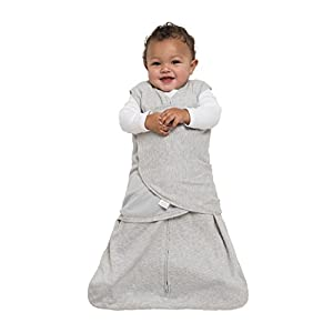Halo SleepSack 100% Cotton Swaddle, Heather Gray, Small
