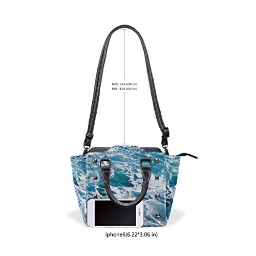 Borsa Borse Multicolore Coosun Ocean Ominous A Medio Top Pelle Blue handle In Di Spalla Pu Crossbody Donne Deep Acqua Background qqwfZ1g