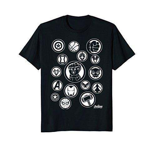 Marvel Avengers Infinity War Tonal Hero Icon Graphic T-Shirt