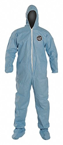Dupont ProShield 6 SFR, Secondary FR Coveralls, Size: M, Color Family: Blues, Closure Type: Zipper - 1 ()