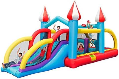 Mnjin Interesante Castillos hinchables Castillo Inflable para niños Toboganes al Aire Libre para niños Castillo Travieso al Aire Libre Equipo de Juegos al Aire Libre Trampolín para niños Grandes a: Amazon.es: Deportes