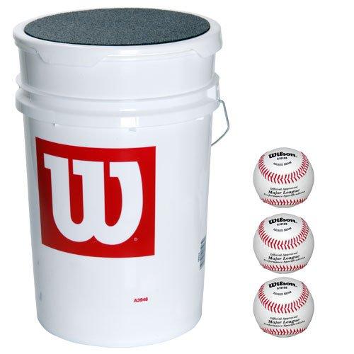 Wilson Bucket of Blem Baseballs (3 dozen) by Wilson
