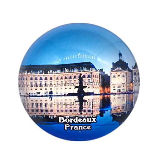 Water Mirror Bordeaux France Fridge Magnet 3D Crystal Glass Tourist City Travel Souvenir Collection Gift Strong Refrigerator Sticker