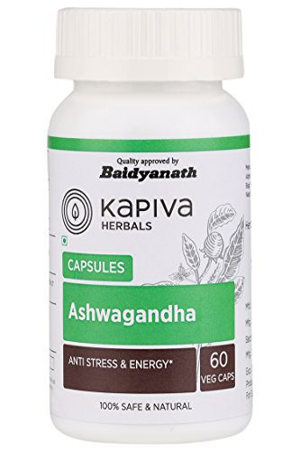 Ashwagandha 60 Veggie Capsules Supplement an Ancient Medical Herb for Stress Depression Removal & Combating Fatigue- 500 mg