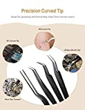 Precision Tweezers Set, ATMOKO 12 PCS ESD Tweezer