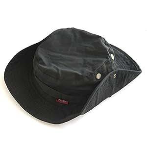 Pellor Boonie Bucket Hat Military Fishing Camping Hunting Wide Brim Bucket Men Outdoor Cap (Black)
