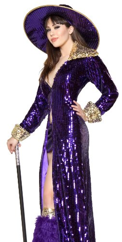 Roma Sexy Womens Purple Pimp Madame Halloween Costume -
