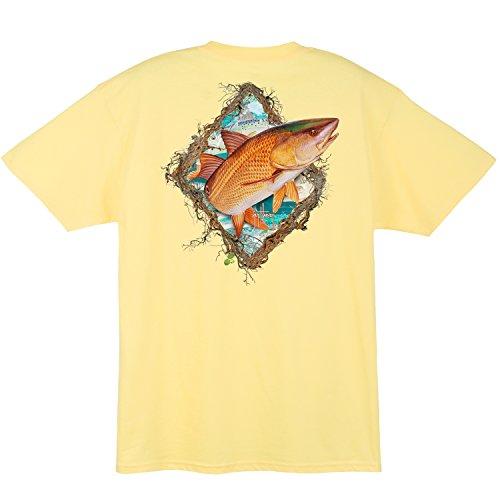 Xxx Guy (Guy Harvey Redfish Fame S/S Pocket T-shirt (XXX-Large, Yellow))