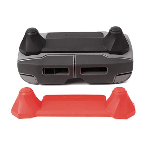 Accessories for DJI Mavic 2 Pro/Zoom Transport Clip Controller Transmitter Protector Stick Thumb Anti-Shake Connected Rocker (2 Pack Black and Red)