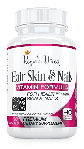 Hair Skin and Nails Vitamins with Biotin 3000mcg for Hair Growth. Best Hair Supplement for Thinning Hair with Folic Acid. High Potency Hair Growth Formula for Women. Pure Skin Hair and Nail Vitamins