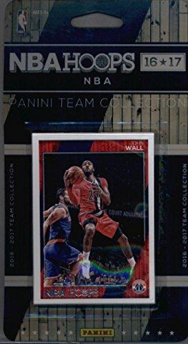 2016-17 Panini NBA Hoops FACTORY SEALED Washington Wizards Team Set of 10 Cards: Ian Mahinmi(#99), John Wall(#154), Markieff Morris(#155), Bradley Beal(#156), Marcin Gortat(#157), Kelly Oubre Jr.(#158), Trey Burke(#194), Otto Porter(#255), Jason Smith(#260), Tomas Satoransky(#281)