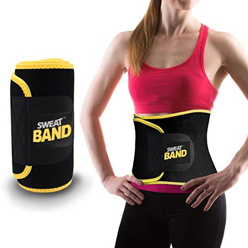Sweat Band Faja Deportiva de Sudoración para Abdomen y Cintura, Ideal para Gym, Ejercicio y Entrenamiento Cardio o Crossfit,...