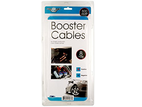 Bulk Buys OL518-3 No Tangle Auto Booster Cables44; 3 Piece by bulk buys