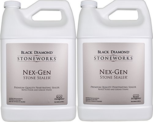 Black Diamond Nex-Gen Natural Stone Penetrating Sealer: Seals & Protects; Granite, Marble, Travertine, Limestone, Concrete, Grout, Tile, Brick, Block & Slate Floors, Patios and Fireplaces. 2-Gallons. by Black Diamond Stoneworks