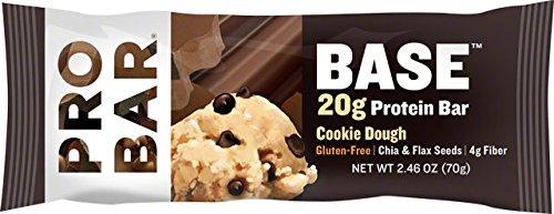 ProBar Base 20 g Protein Bar Cookie Dough 12 Bars 2 46 oz 70 g Each