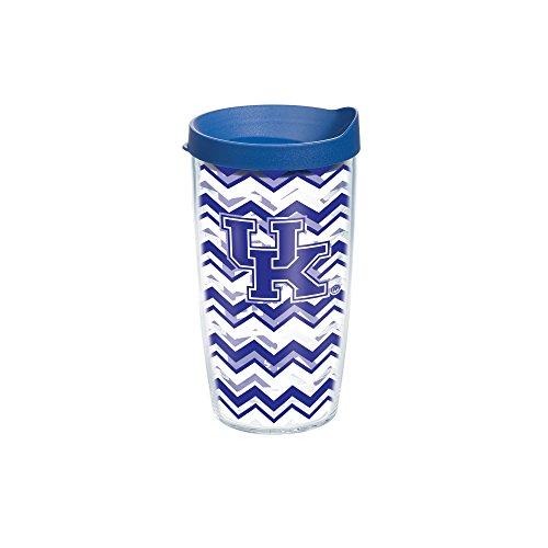 Tervis Kentucky University Chevron Wrap Tumbler with Blue Lid, 16 oz, Clear
