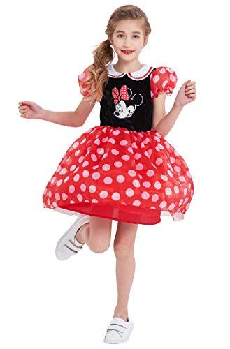 Toddler Girls Minnie Mouse Costume Vintage Polka