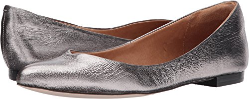 Opportunity Shoes - Corso Como Women's Julia Ballet Flat, Pewter Cracked Leather, 6.5 Medium US