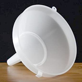 """Plastic Funnel with Strainer 8"""""""