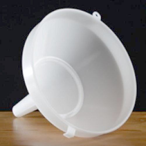 Plastic Funnel with Strainer 8""