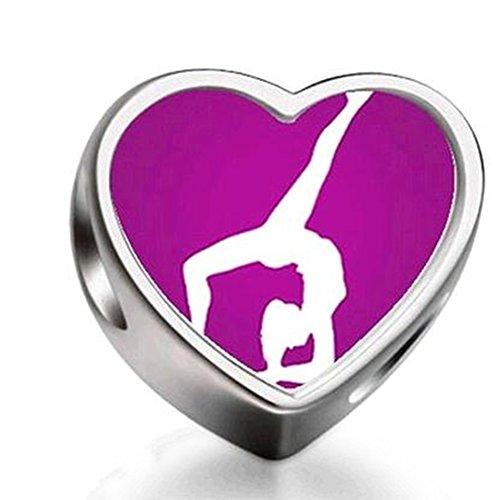 Loyallove London 2013 Olympics Gymnastics-Artistic Heart Photo Charm Beads