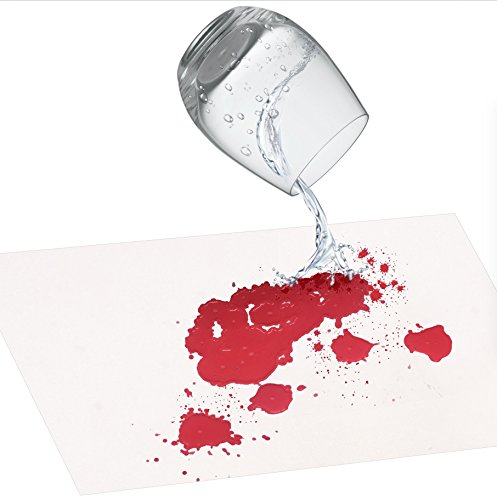 IntroWizard Blood Sheets – Set of 2 Color Changing Table and Wall Poster Decorations – Novelty Gift and Gag Pranks for Adults Turns Red When Wet – Bloody Halloween Decorations, White ()
