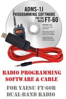 Yaesu FT-60 Series Two-Way Radio Programming Software & Cable Kit (Programming Software)