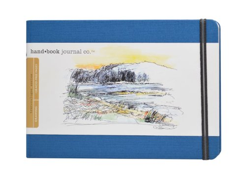Global Art Materials 721422 5-1/2-Inch by 8-1/4-Inch Drawing Book, Large Landscape in Ultramarine Blue by Global Art Materials