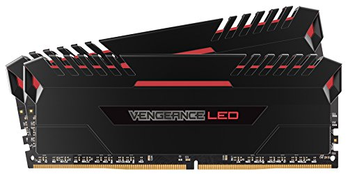 CORSAIR VENGEANCE LED 16GB (2x8GB) DDR4 3200MHz C16 Desktop Memory - Red LED