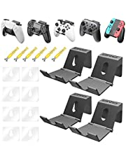 OIVO Controller Wall Mount Holder for PS3/PS4/PS5/Xbox 360/Xbox One/S/X/Elite/Series S/Series X Controller, Pro Controller, Upgraded Adjustable Wall Mount for Video Game Controller&Headphones- 4 Pack