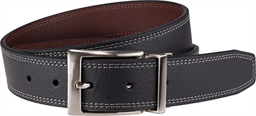 Nike Golf Double Stitch Reversible Leather Belt Mens New Black/Brown 120x Size 34
