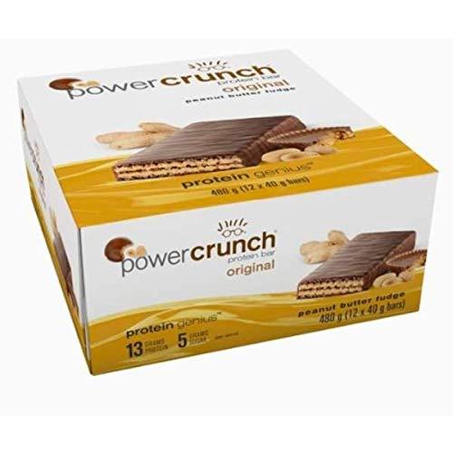 Power Crunch Protein Energy Wafer Bar - Peanut Butter Fudge (12 Bars)