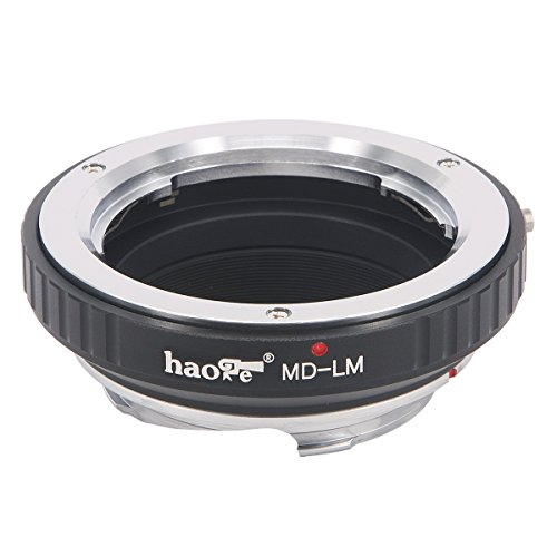 Haoge Lens Mount Adapter for Minolta Rokkor MD MC Mount Lens to Leica M LM Mount Camera Such as M240, M240P, M262, M3, M2, M1, M4, M5, M6, MP, M7, M8, M9, M9-P, M Monochrom, M-E, M, M-P, M10, M-A