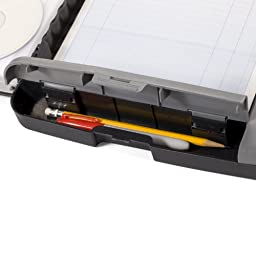 Officemate Portable Clipboard Storage Case, Charcoal (83301)