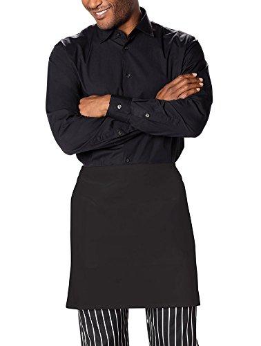 Chefs Apron Half - Dickies Chef Men's Unisex Waist Tie Half Bistro Apron with 2 Pockets, Black, One Size