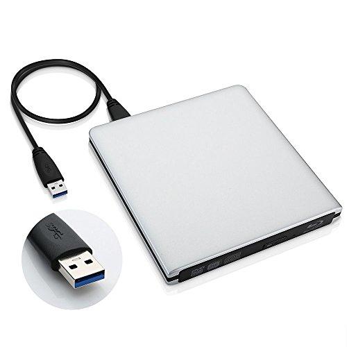DVD /CD player - SODIAL(R) Aluminum USB 3.0 DVD /CD player Sliver by SODIAL(R) (Image #2)