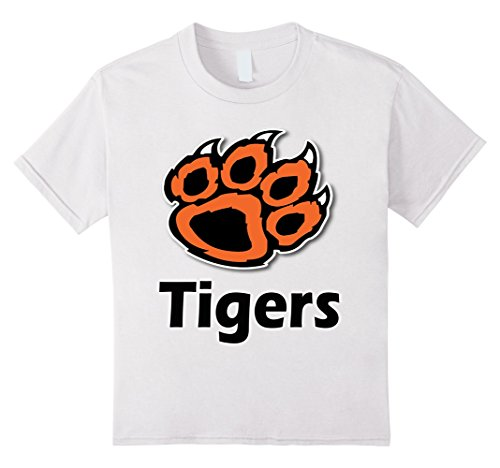 Spirit Tiger - Kids Tiger Paw School Spirit Tigers T-Shirt 4 White