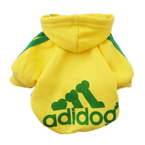 Zehui Pet Dog Cat Sweater Puppy T Shirt Warm Hoodies Coat Clothes Apparel Yellow XXL