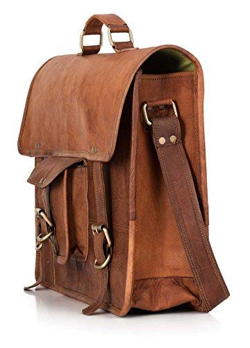 Berliner Bags Berlin L (with handle) - Bolso bandolera  Mujer unisex Hombre marrón marrón large