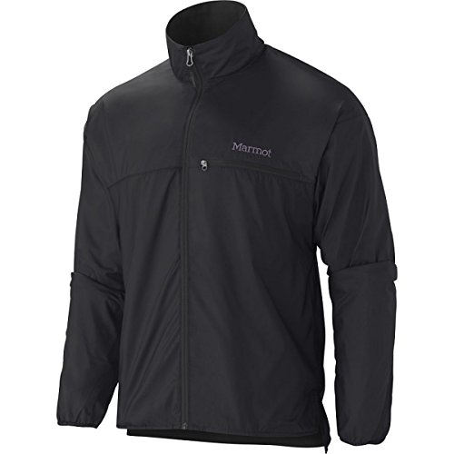 Marmot Men's Driclime Windshirt, Black, Large (Bi Jacket Layer)