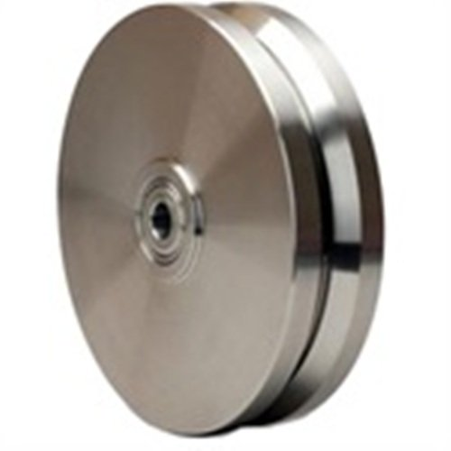 Hamilton 8'' X 2'' Stainless V-Groove Wheel, Precision Ball Bearings