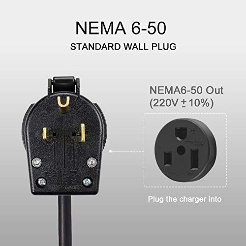 Morec EV Charging Station 32A Level2, ev Charger 220v-240v, Electric Vehicle Charger Station NEMA 6-50, 24Feet Cable (7.5M), SAE J1772 Compatible with All Electric Vehicles by Morec (Image #3)