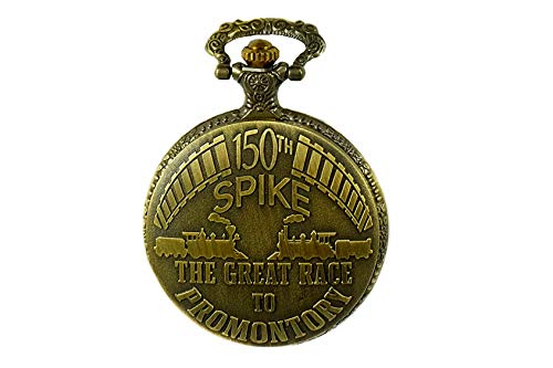 North American Railroad Approved, Railway Pocket Watch Promontory Point Utah 150th Spike Aniversary USA