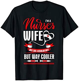 Cool Gift I Am A Nurse's Wife Just Like A Regular Wife  Women Long Sleeve Funny Shirt / Navy / S - 5XL