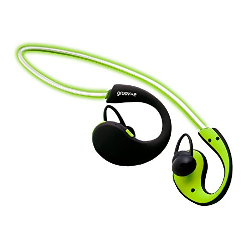 Groov-e Action Wireless Sports Earphones with LED Neckband - Green by groov-e