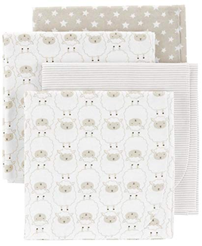 Carter's 4-Pack Soft Breathable Cotton Receiving Blankets