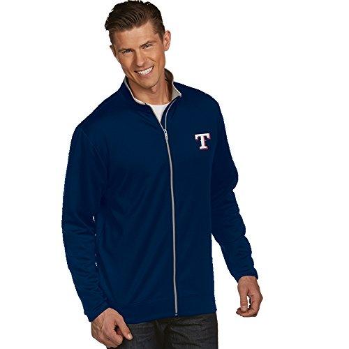 Texas Rangers Leader Full Zip Jacket - - Texas Antigua Jacket Rangers