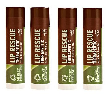 Desert Essence Lip Rescue Therapeutic with Tea Tree Oil - .15 oz (Pack of (Tea Tree Oil Eco Harvest)