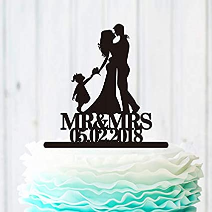 8922c67056620c Image Unavailable. Image not available for. Color: Silhouette Wedding Cake  Topper ...